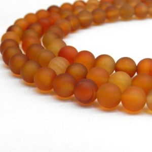 Natural Carnelian Beads, Matte Beads, Orange Carnelian, Carnelian Beads, Autumn Beads, Fall Beads Orange Beads Frosted Beads Orange Gemstone | Natural genuine beads Carnelian beads for beading and jewelry making.  #jewelry #beads #beadedjewelry #diyjewelry #jewelrymaking #beadstore #beading #affiliate #ad