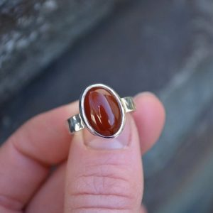 Shop Carnelian Rings! Carnelian Ring, Carnelian, Carnelian Sterling Ring, Carnelian Sterling Silver Ring, Orange Gemstone RIng, Minimilist Jewelry | Natural genuine Carnelian rings, simple unique handcrafted gemstone rings. #rings #jewelry #shopping #gift #handmade #fashion #style #affiliate #ad