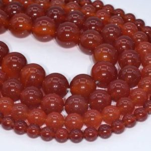 Genuine Natural Carnelian Loose Beads Round Shape 6mm 8mm 10mm 15mm | Natural genuine round Carnelian beads for beading and jewelry making.  #jewelry #beads #beadedjewelry #diyjewelry #jewelrymaking #beadstore #beading #affiliate #ad