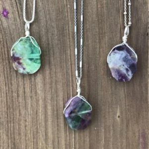 Shop Fluorite Necklaces! Chakra Jewelry / Fluorite / Fluorite Necklace / Fluorite Pendant / Fluorite Jewelry / Reiki Jewerly / Boho Necklace / Sterling Silver | Natural genuine Fluorite necklaces. Buy crystal jewelry, handmade handcrafted artisan jewelry for women.  Unique handmade gift ideas. #jewelry #beadednecklaces #beadedjewelry #gift #shopping #handmadejewelry #fashion #style #product #necklaces #affiliate #ad