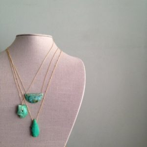 Chrysocolla Necklace Geometric Necklace Chrysocolla Jewelry Gemstone Necklace Gold Filled Necklace | Natural genuine Chrysocolla necklaces. Buy crystal jewelry, handmade handcrafted artisan jewelry for women.  Unique handmade gift ideas. #jewelry #beadednecklaces #beadedjewelry #gift #shopping #handmadejewelry #fashion #style #product #necklaces #affiliate #ad