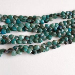 Shop Chrysocolla Bead Shapes! 8-8.5mm Chrysocolla Faceted Heart Beads, Chrysocolla Beads, Faceted Heart Beads for Jewelry (4IN To 8IN Options) – AAG46 | Natural genuine other-shape Chrysocolla beads for beading and jewelry making.  #jewelry #beads #beadedjewelry #diyjewelry #jewelrymaking #beadstore #beading #affiliate #ad