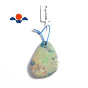 Blue Green Chrysocolla Pendant Teardrop or Irregular Shape Approx 30x40mm | Natural genuine Chrysocolla pendants. Buy crystal jewelry, handmade handcrafted artisan jewelry for women.  Unique handmade gift ideas. #jewelry #beadedpendants #beadedjewelry #gift #shopping #handmadejewelry #fashion #style #product #pendants #affiliate #ad