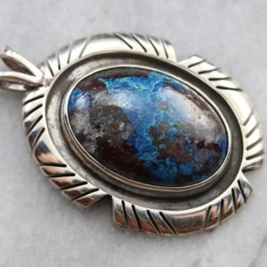 Shop Chrysocolla Pendants! Tribal Style Chrysocolla Pendant, Sterling Silver Pendant, Chrysocolla Pendant, Cabochon Pendant, Statement Pendant 64hz5n2k | Natural genuine Chrysocolla pendants. Buy crystal jewelry, handmade handcrafted artisan jewelry for women.  Unique handmade gift ideas. #jewelry #beadedpendants #beadedjewelry #gift #shopping #handmadejewelry #fashion #style #product #pendants #affiliate #ad