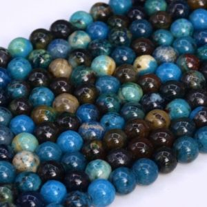 Shop Chrysocolla Beads! Natural Chrysocolla Loose Beads Round Shape 6mm | Natural genuine beads Chrysocolla beads for beading and jewelry making.  #jewelry #beads #beadedjewelry #diyjewelry #jewelrymaking #beadstore #beading #affiliate #ad