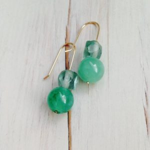 Chrysoprase Earrings Chrysoprase Jewelry Gemstone Jewelry | Natural genuine Chrysoprase earrings. Buy crystal jewelry, handmade handcrafted artisan jewelry for women.  Unique handmade gift ideas. #jewelry #beadedearrings #beadedjewelry #gift #shopping #handmadejewelry #fashion #style #product #earrings #affiliate #ad