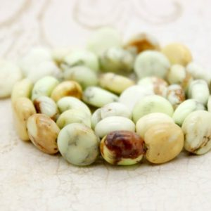 Lemon Chrysoprase Smooth Flat Round Natural Gemstone Beads | Natural genuine other-shape Chrysoprase beads for beading and jewelry making.  #jewelry #beads #beadedjewelry #diyjewelry #jewelrymaking #beadstore #beading #affiliate #ad