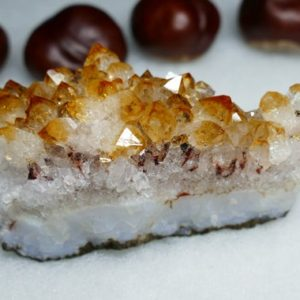 Shop Raw & Rough Citrine Stones! Citrine Geode Crystal Cluster 3 inches | Natural genuine stones & crystals in various shapes & sizes. Buy raw cut, tumbled, or polished gemstones for making jewelry or crystal healing energy vibration raising reiki stones. #crystals #gemstones #crystalhealing #crystalsandgemstones #energyhealing #affiliate #ad