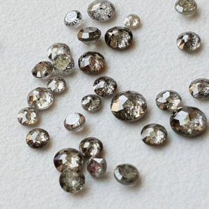 Shop Diamond Cabochons! 3.4-4.2mm Salt And Pepper Diamond, Tamboli Rose Cut Diamond, 3 Pc Flat Back, Rare Diamond, Natural Round Diamond for Jewelry – PPD20A | Natural genuine stones & crystals in various shapes & sizes. Buy raw cut, tumbled, or polished gemstones for making jewelry or crystal healing energy vibration raising reiki stones. #crystals #gemstones #crystalhealing #crystalsandgemstones #energyhealing #affiliate #ad