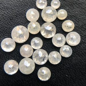 Shop Diamond Cabochons! 3.3-3.8mm White Rose Cut Diamond, Rare Natural White Tamboli Diamond Cabochon, Brilliant Luster & Color, Faceted Diamond (2Pcs To 4Pcs) | Natural genuine stones & crystals in various shapes & sizes. Buy raw cut, tumbled, or polished gemstones for making jewelry or crystal healing energy vibration raising reiki stones. #crystals #gemstones #crystalhealing #crystalsandgemstones #energyhealing #affiliate #ad