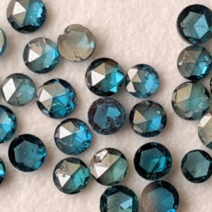 Shop Diamond Cabochons! 2-2.5mm Rose Cut Diamond, Blue Round Rose Cut Diamond, Flat Back Diamond Cabochon, Blue Rose Cut Diamond For Jewelry (2Pcs To 8Pcs) – PPD561 | Natural genuine stones & crystals in various shapes & sizes. Buy raw cut, tumbled, or polished gemstones for making jewelry or crystal healing energy vibration raising reiki stones. #crystals #gemstones #crystalhealing #crystalsandgemstones #energyhealing #affiliate #ad