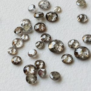 Shop Diamond Cabochons! 2.5-3mm Salt And Pepper Rose Cut Diamond, Rare Natural Salt & Pepper Tamboli Diamond Cabochon, Loose Rose Cut Diamond (2Pc T0 6 Pc Option) | Natural genuine stones & crystals in various shapes & sizes. Buy raw cut, tumbled, or polished gemstones for making jewelry or crystal healing energy vibration raising reiki stones. #crystals #gemstones #crystalhealing #crystalsandgemstones #energyhealing #affiliate #ad
