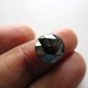 Shop Diamond Cabochons! Huge Rare 10mm Natural Grey Black Round Salt and Pepper Rose Cut Diamond Loose Cabochon, Faceted Black Rose Cut Loose Diamond, DDS595/5 | Natural genuine stones & crystals in various shapes & sizes. Buy raw cut, tumbled, or polished gemstones for making jewelry or crystal healing energy vibration raising reiki stones. #crystals #gemstones #crystalhealing #crystalsandgemstones #energyhealing #affiliate #ad