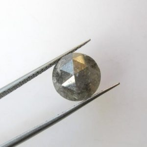Shop Diamond Cabochons! OOAK 2.75CTW Huge 8.7mm Natural Gray Round Shaped Salt and Pepper Rose Cut Diamond Loose Cabochon, Faceted Rose Cut Loose Diamond, DDS525/16 | Natural genuine stones & crystals in various shapes & sizes. Buy raw cut, tumbled, or polished gemstones for making jewelry or crystal healing energy vibration raising reiki stones. #crystals #gemstones #crystalhealing #crystalsandgemstones #energyhealing #affiliate #ad