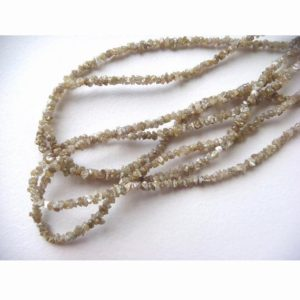 Shop Raw & Rough Diamond Beads! 3-4mm Champagne Brown Rough Diamonds, Natural Raw Uncut Diamond Beads, Champagne Brown Raw Diamonds For Jewelry (4IN To 16IN Options) | Natural genuine beads Diamond beads for beading and jewelry making.  #jewelry #beads #beadedjewelry #diyjewelry #jewelrymaking #beadstore #beading #affiliate #ad
