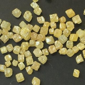 Shop Raw & Rough Diamond Stones! 1-2mm Yellow Perfect Cube Rough Diamonds, Tiny Undrilled Natural Yellow Raw Diamond Box Bead, Loose Raw Uncut Diamond Cubes (1Ct To 5Ct) | Natural genuine stones & crystals in various shapes & sizes. Buy raw cut, tumbled, or polished gemstones for making jewelry or crystal healing energy vibration raising reiki stones. #crystals #gemstones #crystalhealing #crystalsandgemstones #energyhealing #affiliate #ad