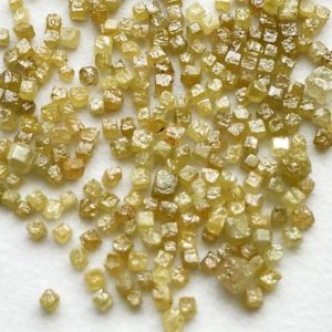 Shop Raw & Rough Diamond Stones! 1-2mm Yellow Rough Diamond Perfect Cube, Natural Yellow Tiny Raw Diamond Box Cubes, Loose Diamonds, Uncut Diamond (1Cts To 10Cts) – PUSPD64 | Natural genuine stones & crystals in various shapes & sizes. Buy raw cut, tumbled, or polished gemstones for making jewelry or crystal healing energy vibration raising reiki stones. #crystals #gemstones #crystalhealing #crystalsandgemstones #energyhealing #affiliate #ad
