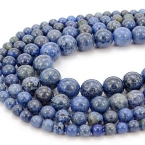 Shop Dumortierite Beads! You Pick Top Quality Natural Blue Dumortierite Gemstone 4mm 6mm 8mm 10mm Round Loose Beads 15 inch Per Strand for Jewelry Craft Making GF28 | Natural genuine round Dumortierite beads for beading and jewelry making.  #jewelry #beads #beadedjewelry #diyjewelry #jewelrymaking #beadstore #beading #affiliate #ad