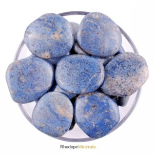 Shop Dumortierite Stones & Crystals! One 1 Dumortierite Smooth Stone, Dumortierite Palm Stone, Dumortierite Smooth Stones, Dumortierite Palm Stones, Dumortierite Smooth Stones | Natural genuine stones & crystals in various shapes & sizes. Buy raw cut, tumbled, or polished gemstones for making jewelry or crystal healing energy vibration raising reiki stones. #crystals #gemstones #crystalhealing #crystalsandgemstones #energyhealing #affiliate #ad