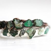 Raw Emerald Ring – Emerald Ring – May Birthstone Jewelry – Multi Stone Ring | Natural genuine Gemstone jewelry. Buy crystal jewelry, handmade handcrafted artisan jewelry for women.  Unique handmade gift ideas. #jewelry #beadedjewelry #beadedjewelry #gift #shopping #handmadejewelry #fashion #style #product #jewelry #affiliate #ad