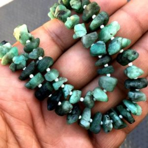 Fabulous Gems 50 Pieces Super Fine Quality Natural Green Emerald Gemstones Uneven shape Raw Size 6-8 MM May Birthstone Making Green Jewelry | Natural genuine chip Emerald beads for beading and jewelry making.  #jewelry #beads #beadedjewelry #diyjewelry #jewelrymaking #beadstore #beading #affiliate #ad