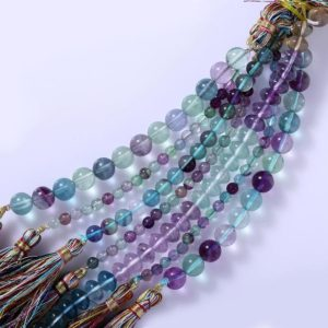 Shop Fluorite Beads! AA Quality Fluorite Smooth Round  Beads 8 Inches and 16 inches Multi color beads, Natural Gemstone fluorite beads wholesale fluorite lot. | Natural genuine beads Fluorite beads for beading and jewelry making.  #jewelry #beads #beadedjewelry #diyjewelry #jewelrymaking #beadstore #beading #affiliate #ad