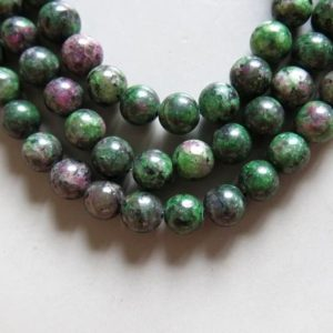 Shop Ruby Zoisite Round Beads! Full Strand 15inches Ruby Zoisite Round Beads – A513 | Natural genuine round Ruby Zoisite beads for beading and jewelry making.  #jewelry #beads #beadedjewelry #diyjewelry #jewelrymaking #beadstore #beading #affiliate #ad