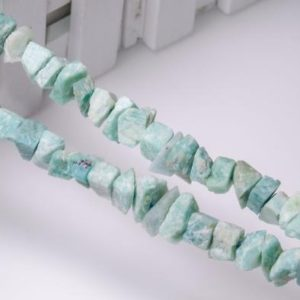 Shop Amazonite Chip & Nugget Beads! Full Strand Amazonite Raw Rough Natural Stone Center Drilled Crystal Healing Stone Points / beads For Jewelry Making Luck Gift | Natural genuine chip Amazonite beads for beading and jewelry making.  #jewelry #beads #beadedjewelry #diyjewelry #jewelrymaking #beadstore #beading #affiliate #ad