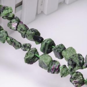 Shop Ruby Zoisite Chip & Nugget Beads! Full Strand Ruby in Zoisite Raw Rough Natural Stone Center Drilled  Crystal Healing Stone Points/Beads for Jewelry Making Luck Gift | Natural genuine chip Ruby Zoisite beads for beading and jewelry making.  #jewelry #beads #beadedjewelry #diyjewelry #jewelrymaking #beadstore #beading #affiliate #ad