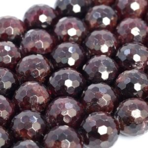 Genuine Natural Wine Red Garnet Loose Beads Grade A+ Micro Faceted Round Shape 6mm 8mm 10mm 12mm | Natural genuine beads Array beads for beading and jewelry making.  #jewelry #beads #beadedjewelry #diyjewelry #jewelrymaking #beadstore #beading #affiliate #ad