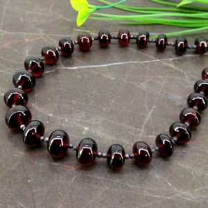 Shop Garnet Rondelle Beads! Natural Garnet 9-12mm Smooth Rondelle Briolette Beads / Approx 27 Pieces On 12 Inch Long Strand / Jbc-et-153753 | Natural genuine rondelle Garnet beads for beading and jewelry making.  #jewelry #beads #beadedjewelry #diyjewelry #jewelrymaking #beadstore #beading #affiliate #ad