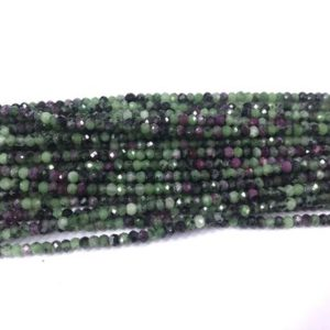 Shop Ruby Zoisite Faceted Beads! Genuine Faceted Ruby Zoisite 2x3mm Rondelle Cut Natural Loose Gemstone GradeA Beads 15 inch Jewelry Bracelet Necklace Material Supply | Natural genuine faceted Ruby Zoisite beads for beading and jewelry making.  #jewelry #beads #beadedjewelry #diyjewelry #jewelrymaking #beadstore #beading #affiliate #ad