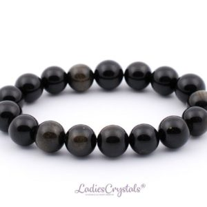 Shop Golden Obsidian Bracelets! 10mm Gold Sheen Obsidian Bracelet, Stretch Golden Obsidian Bracelets 10 mm, Gold Obsidian Bracelets, Golden Obsidian Bead Bracelet, Gift | Natural genuine Golden Obsidian bracelets. Buy crystal jewelry, handmade handcrafted artisan jewelry for women.  Unique handmade gift ideas. #jewelry #beadedbracelets #beadedjewelry #gift #shopping #handmadejewelry #fashion #style #product #bracelets #affiliate #ad