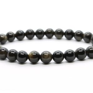 Shop Golden Obsidian Bracelets! Golden Obsidian Bracelet, 8 mm Bead Golden Obsidian Bracelet, Minerals Golden Obsidian, Crystals Golden Obsidian, Gemstones Golden Obsidian | Natural genuine Golden Obsidian bracelets. Buy crystal jewelry, handmade handcrafted artisan jewelry for women.  Unique handmade gift ideas. #jewelry #beadedbracelets #beadedjewelry #gift #shopping #handmadejewelry #fashion #style #product #bracelets #affiliate #ad