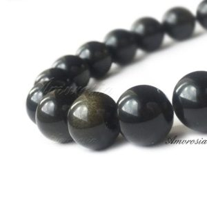 Shop Golden Obsidian Bracelets! Golden obsidian bracelet – Obsidian bracelet – Protection bracelet – Sheen obsidian – Grounding mala – Stone bracelet – Beaded bracelet | Natural genuine Golden Obsidian bracelets. Buy crystal jewelry, handmade handcrafted artisan jewelry for women.  Unique handmade gift ideas. #jewelry #beadedbracelets #beadedjewelry #gift #shopping #handmadejewelry #fashion #style #product #bracelets #affiliate #ad