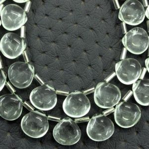 Shop Green Amethyst Beads! Natural Green Amethyst Gemstone, 21 Pieces Smooth Heart Shape Briolette Beads,Size 9-10 MM Best Quality Amethyst Heart Making Jewelry Beads | Natural genuine other-shape Green Amethyst beads for beading and jewelry making.  #jewelry #beads #beadedjewelry #diyjewelry #jewelrymaking #beadstore #beading #affiliate #ad