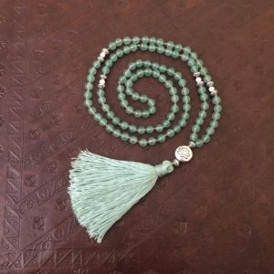 Shop Aventurine Necklaces! Green Aventurine Mala, Aventurine Necklace, Zen Mala, Gemstone Mala | Natural genuine Aventurine necklaces. Buy crystal jewelry, handmade handcrafted artisan jewelry for women.  Unique handmade gift ideas. #jewelry #beadednecklaces #beadedjewelry #gift #shopping #handmadejewelry #fashion #style #product #necklaces #affiliate #ad
