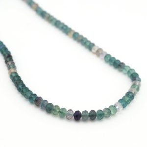 "Shop Fluorite Rondelle Beads! Green faceted fluorite rondelle beads, 16"" strand, multicolor semiprecious stone, 6mm,  Irina Miech 