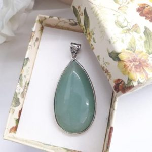 Shop Fluorite Necklaces! Green Fluorite Pendant – Green Fluorite Necklace – Birthstone Jewelry – Fluorite Jewelry – Oval Teardrop Pendant – Gift For Women | Natural genuine Fluorite necklaces. Buy crystal jewelry, handmade handcrafted artisan jewelry for women.  Unique handmade gift ideas. #jewelry #beadednecklaces #beadedjewelry #gift #shopping #handmadejewelry #fashion #style #product #necklaces #affiliate #ad