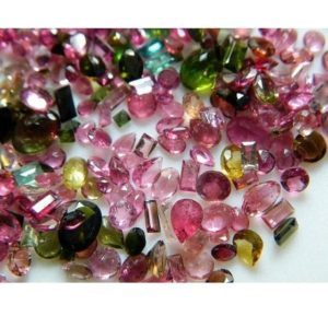 Shop Green Tourmaline Stones & Crystals! 14 Pieces 6mm To 9mm Each Tourmaline Faceted Mixed Shaped Pink And Green Color Loose Gemstones SKU-TRF1 | Natural genuine stones & crystals in various shapes & sizes. Buy raw cut, tumbled, or polished gemstones for making jewelry or crystal healing energy vibration raising reiki stones. #crystals #gemstones #crystalhealing #crystalsandgemstones #energyhealing #affiliate #ad