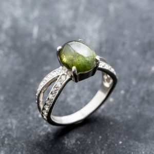 Shop Green Tourmaline Rings! Promise Ring, Tourmaline Ring, Natural Tourmaline, Vintage Rings, Green Tourmaline, October Birthstone, Solid Silver Ring, Tourmaline | Natural genuine Green Tourmaline rings, simple unique handcrafted gemstone rings. #rings #jewelry #shopping #gift #handmade #fashion #style #affiliate #ad