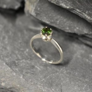 Green Tourmaline Ring, Solitaire Ring, Promise Ring, Tourmaline Ring, Dainty Green Ring, Engagement Ring, Green Ring, Sterling Silver Ring | Natural genuine Gemstone rings, simple unique alternative gemstone engagement rings. #rings #jewelry #bridal #wedding #jewelryaccessories #engagementrings #weddingideas #affiliate #ad