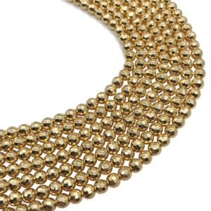 Shop Hematite Faceted Beads! 6mm Faceted Hematite Beads, Gold Plated Beads, Hematite Beads, Hematite Jewelry   Natural genuine faceted Hematite beads for beading and jewelry making.  #jewelry #beads #beadedjewelry #diyjewelry #jewelrymaking #beadstore #beading #affiliate #ad