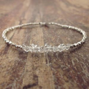 Shop Herkimer Diamond Bracelets! Herkimer Diamond Bracelet, Herkimer Diamond Bracelets, Womens Gift, Raw Stone Bracelet Beaded Bracelets Raw Crystal Jewelry April Birthstone | Natural genuine Herkimer Diamond bracelets. Buy crystal jewelry, handmade handcrafted artisan jewelry for women.  Unique handmade gift ideas. #jewelry #beadedbracelets #beadedjewelry #gift #shopping #handmadejewelry #fashion #style #product #bracelets #affiliate #ad