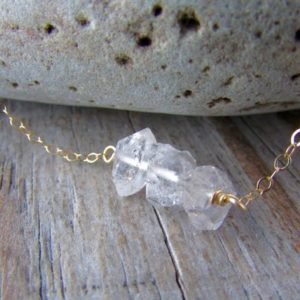 Shop Herkimer Diamond Necklaces! Herkimer Diamond Necklace, big raw diamond and gold gemstone necklace | Natural genuine Herkimer Diamond necklaces. Buy crystal jewelry, handmade handcrafted artisan jewelry for women.  Unique handmade gift ideas. #jewelry #beadednecklaces #beadedjewelry #gift #shopping #handmadejewelry #fashion #style #product #necklaces #affiliate #ad