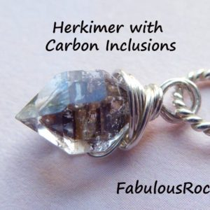 Herkimer Diamonds Herkimer Crystal Quartz Necklace /  Herkimer Necklace Pendant Metaphysical Jewelry Healing Gems Gemstone, April gd605 solo | Natural genuine Herkimer Diamond pendants. Buy crystal jewelry, handmade handcrafted artisan jewelry for women.  Unique handmade gift ideas. #jewelry #beadedpendants #beadedjewelry #gift #shopping #handmadejewelry #fashion #style #product #pendants #affiliate #ad