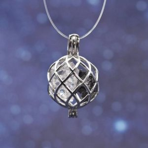 Shop Herkimer Diamond Pendants! Sikhote-alin Meteorite | Clear Herkimer Diamond Quartz | Sterling Silver Spherical Enclosure Pendant | Natural genuine Herkimer Diamond pendants. Buy crystal jewelry, handmade handcrafted artisan jewelry for women.  Unique handmade gift ideas. #jewelry #beadedpendants #beadedjewelry #gift #shopping #handmadejewelry #fashion #style #product #pendants #affiliate #ad