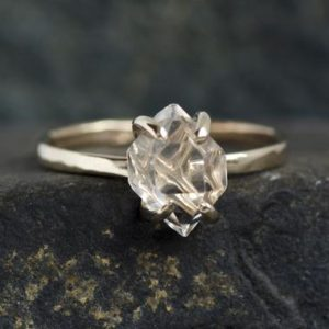 Shop Herkimer Diamond Rings! READY to SHIP. US Size 6. 14k White Gold Herkimer Diamond Ring. Herkimer Ring. Alternative Herkimer Diamond Engagement Ring | Natural genuine Herkimer Diamond rings, simple unique alternative gemstone engagement rings. #rings #jewelry #bridal #wedding #jewelryaccessories #engagementrings #weddingideas #affiliate #ad