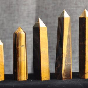 High Quality Natural Tiger Eye Tower Quartz Point/Tiger Eye Wand/Tiger's Eye Crystal Obelisk/Healing Crystal/#BJ-S80910P801 | Natural genuine stones & crystals in various shapes & sizes. Buy raw cut, tumbled, or polished gemstones for making jewelry or crystal healing energy vibration raising reiki stones. #crystals #gemstones #crystalhealing #crystalsandgemstones #energyhealing #affiliate #ad