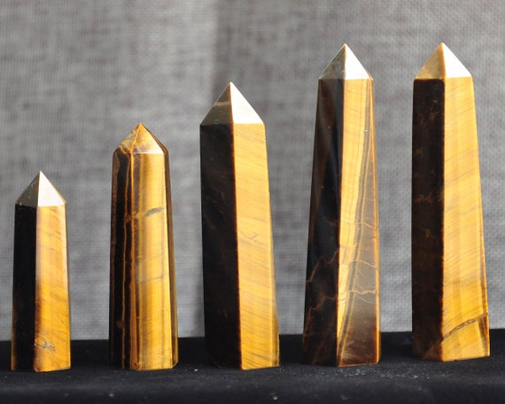 High Quality Natural Tiger Eye Tower Quartz Point/tiger Eye Wand/tiger's Eye Crystal Obelisk/healing Crystal/#bj-s80910p801